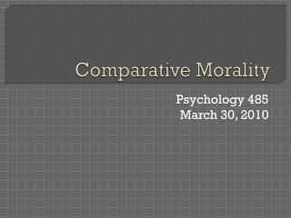Comparative Morality