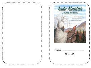 Yonder Mountain Name :------------------------ Class 4/