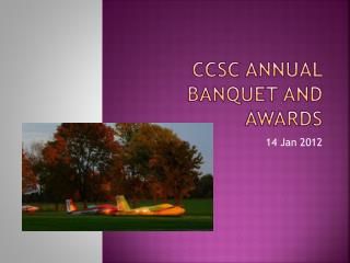 CCSC Annual Banquet and Awards
