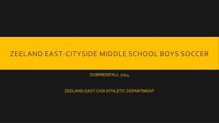 Zeeland East-Cityside Middle School Boys Soccer