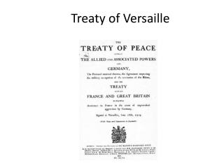 Treaty  of  Versaille