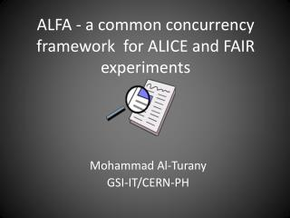 ALFA - a common concurrency framework  for ALICE and FAIR experiments