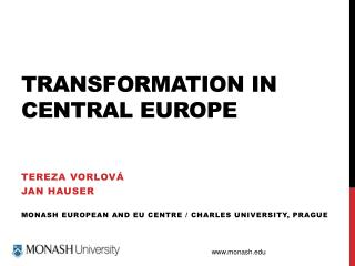 Transformation in central  europe