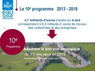 4,7 milliards d ' euros  d ' aides sur  6 ans correspondant à 6,3 milliards d ' euros de travaux