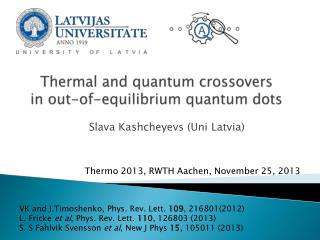 Thermal and quantum crossovers  in out-of-equilibrium quantum dots