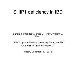 SHIP1 deficiency in IBD