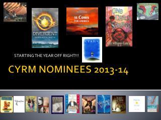 CYRM NOMINEES 2013-14