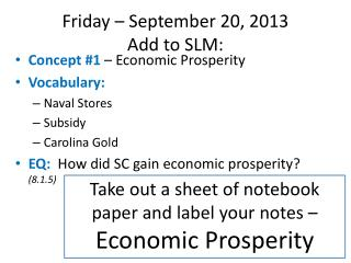 Friday � September 20, 2013 Add  to SLM:
