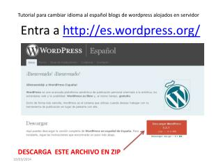 Cambiar a español blogs de WordPress