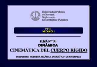 1  I.T.I. :  MECANICA I