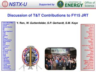 Discussion of T&T Contributions to  FY15  JRT