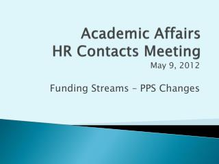 Academic Affairs HR Contacts Meeting