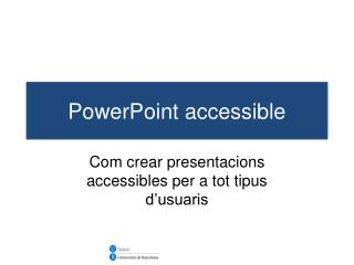 PowerPoint accessible
