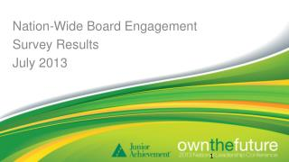 Nation-Wide Board Engagement Survey Results July 2013