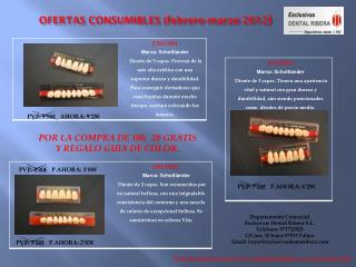 OFERTAS CONSUMIBLES (febrero-marzo 2012 )