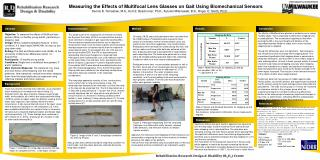 Measuring  the Effects of Multifocal Lens Glasses on Gait Using Biomechanical Sensors