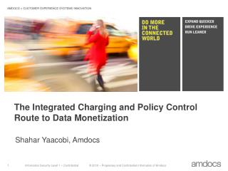 The  Integrated Charging and Policy Control Route to Data Monetization