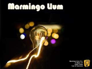 Marmingo Llum , S.L. C/  Major , 47 25001 Lleida Telf : 97 338 84 56