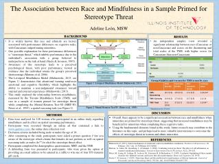 The Association between Race and Mindfulness in a Sample Primed for Stereotype Threat