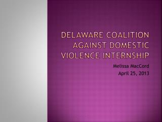 Delaware Coalition Against Domestic Violence Internship