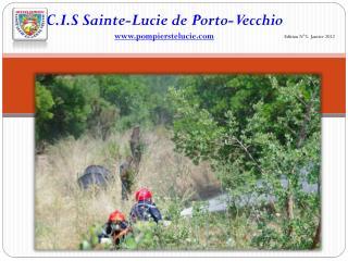 C.I.S  Sainte-Lucie de Porto-Vecchio www.pompierstelucie.com