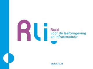 Presentatie advies 'Ruimte voor duurzame landbouw' Den Haag, 20 maart 2013