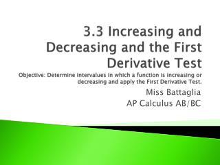 Miss  Battaglia AP Calculus AB/BC