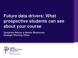 What prospective students can see about your course
