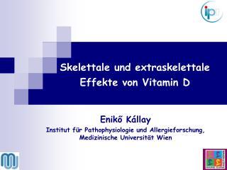 Enik ő  Kállay Institut für Pathophysiologie und Allergieforschung, Medizinische Universität Wien