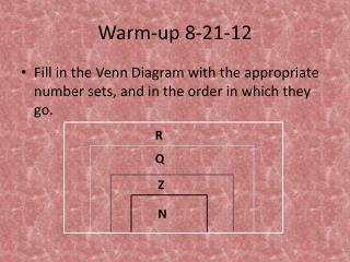 Warm-up 8-21-12