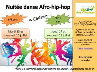 Nuitée danse Afro-hip-hop