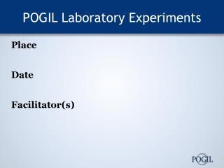POGIL Laboratory Experiments