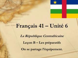 Français  41 –  Unité  6
