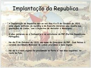 Implanta  o da Republica