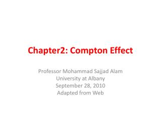 Chapter2: Compton Effect
