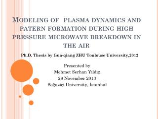 Ph .D.  Thesis by Gua-qiang  ZHU Toulouse University ,2012