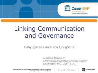 Linking Communication and Governance