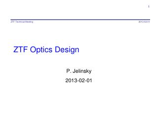 ZTF Optics Design
