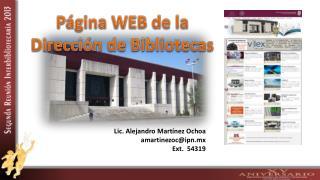 Página WEB de la Dirección de Bibliotecas