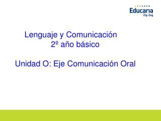 Lenguaje y Comunicación     2º año básico Unidad O: Eje Comunicación Oral
