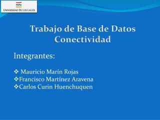 Trabajo de Base de Datos Conectividad