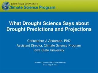 What Drought Science Says about Drought Predictions and Projections