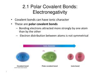 2.1 Polar Covalent Bonds: Electronegativity