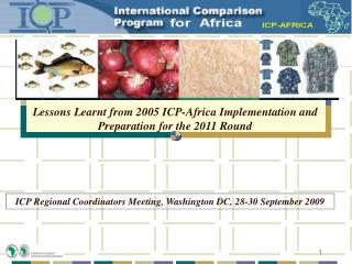 Lessons Learnt from 2005 ICP-Africa Implementation and Preparation for the 2011 Round