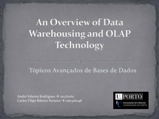 An Overview of Data Warehousing and OLAP Technology
