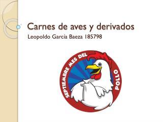 Carnes de aves y derivados