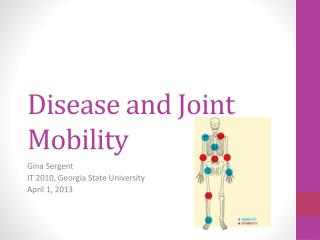 Disease and Joint Mobility