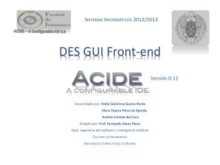DES GUI  Front - end