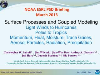 NOAA ESRL PSD Briefing March 2013