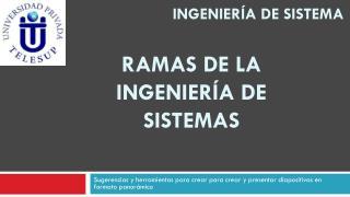 INGENIERÍA DE SISTEMA